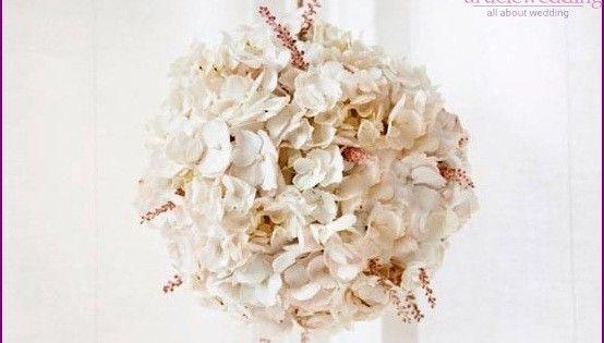 Подвесные украшения из гортензии