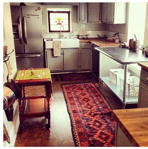 Boho Kitchen Floors