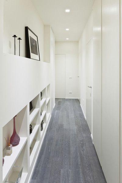 Cores claras no corredor