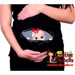 chandail de maternité trou bébé fille