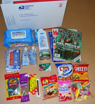 Items in the comforts of home care packages include 300 for House material packages