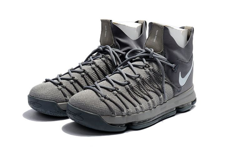 Sale New KD 9 IX Elite 2017 NBA Playoffs Slate Grey Dark Gray Kevin Durant Shoes 2017