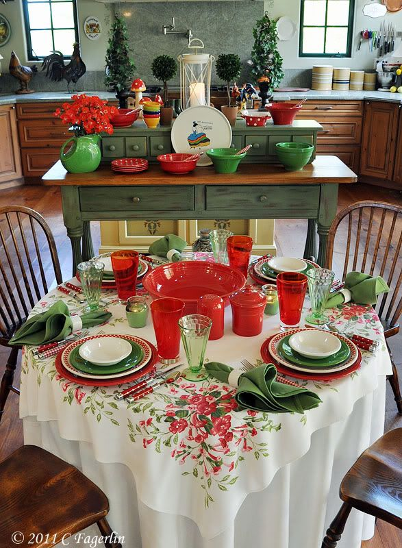 The Little Round Table: Fiesta Red And Green .... Not Just For