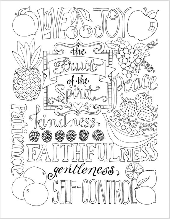since june is national fresh fruit and vegetable month i felt a fruit themed coloring page might be in order this sunday i love summer fruits juicy - Coloring Pages For Young Adults