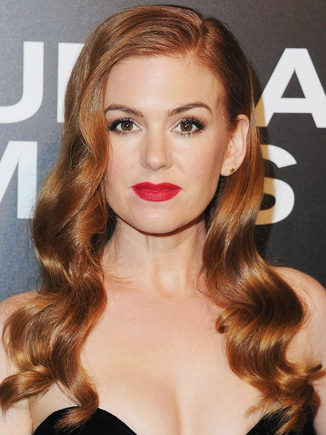 Hair colour ideas: Isla Fisher with red hair
