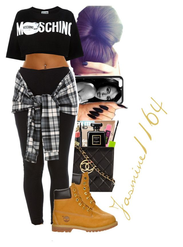 """""""Post Malone~Tear$"""" by jasmine1164 ❤ liked on Polyvore featuring mode, Moschino et Timberland"""