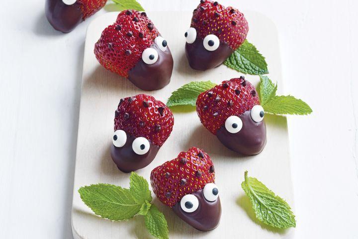 Ladybird Strawberries Recipe Strawberry Recipes Rainbow Food