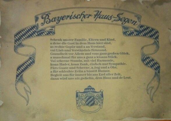 Bayerischer Haus-Segen   Bavaria{n}   Pinterest