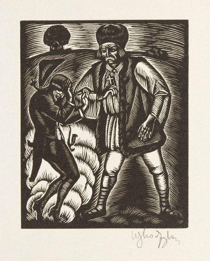 Władysław Skoczylas - Juhas z diabłem, 1929 r.
