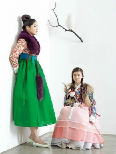 한복 hanbok, Korean traditional mod