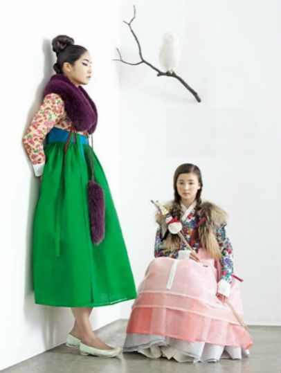한복 hanbok, Korean traditional mod