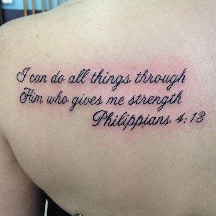 How To Quote The Bible: Bible Verses Tattoos. A Tattoo Made Up Of Your Favorite