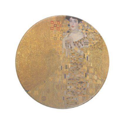 Gustav Klimt - Adele Bloch-Bauer I Painting Drink Coaster - vintage wedding gifts ideas personalize diy unique style