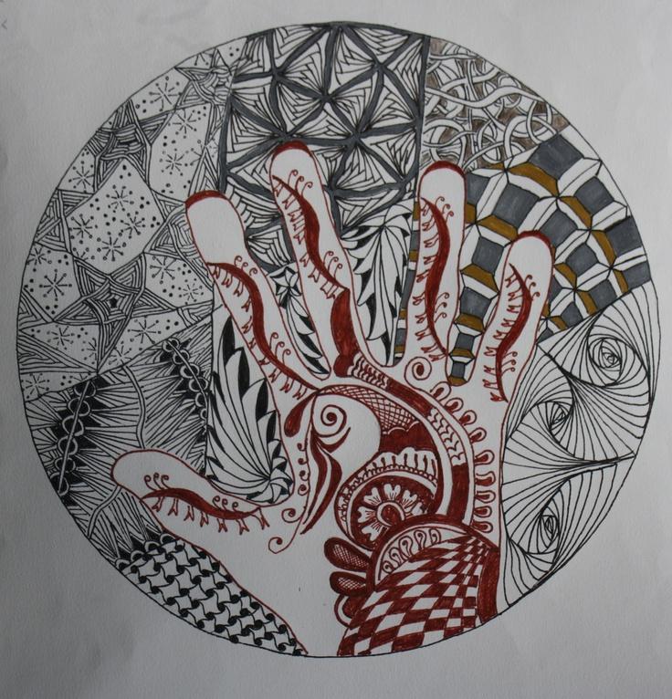 Mandala 3- Mehendi and zen tangle patterns