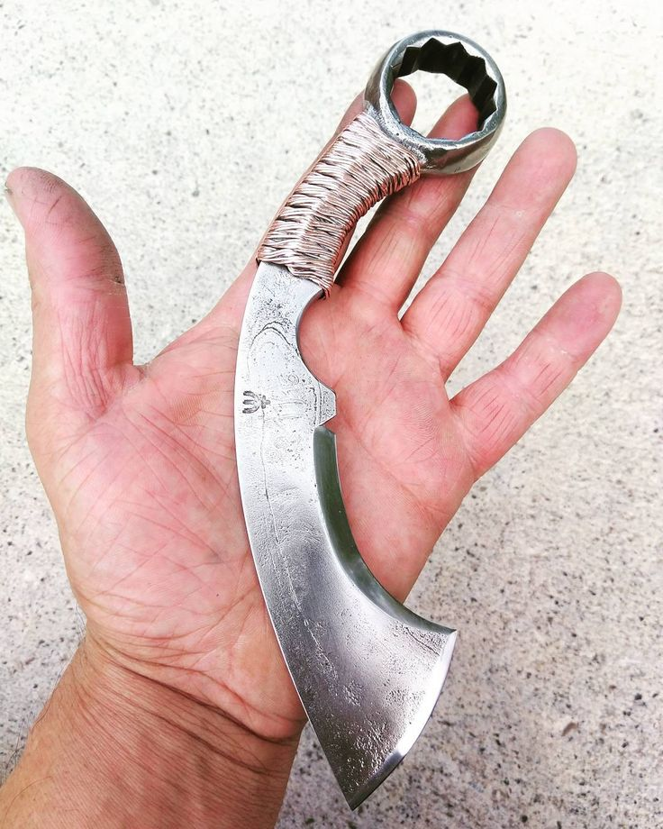 ***NOW AVAILABLE ON ETSY*** https://www.etsy.com/listing/533931536/forged-karambit-wrench-knife. I like their wire wrap on the handle, as well as the blade profile.