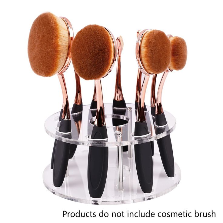 YONGER Oval Toothbrush Makeup Brush Set Holder 10 Hole Drying Rack Organizer Cosmetic Shelf Tool ** You can find more details by visiting the image link.