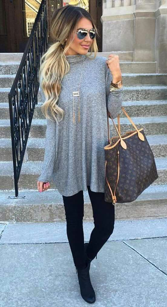 I love this look but I'm not sure the top would look good on me. The bag is a bit too big for me.