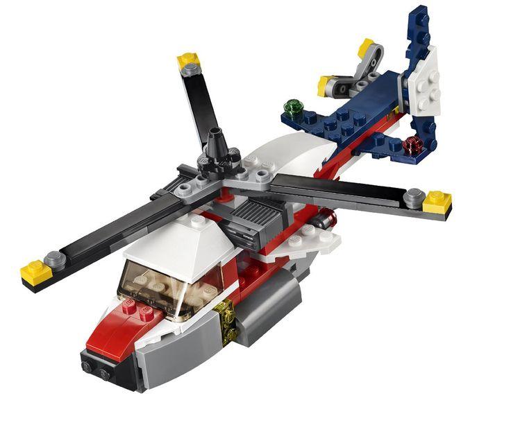 Con el Lego Creator Bimotor contempla las aeronaves que tu hijo puede diseñar y recorrer el mundo en el aire