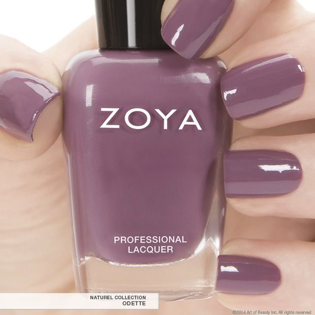 Zoya Nail Polish in Odette a full-coverage sultry orchid maroon cream