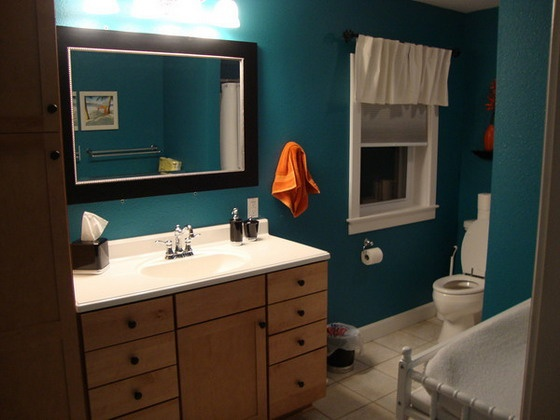 Turquoise Decorating Ideas For Apartments Bathrooms: Dark Turquoise/teal Bathroom