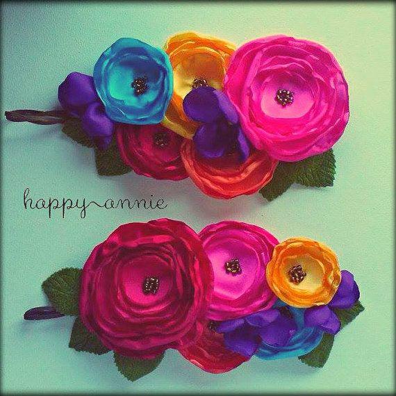 Frida Halo Floral flower crown headband Frida Kahlo by HappyAnnie