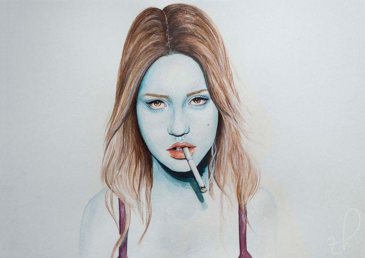 cravings Adèle Exarchopoulos watercolour portrait #watercolor