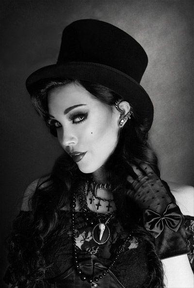 Chapeau noir cabaret victorien elegant aristocrate > JAPAN ATTITUDE - ACCCHA132   Shop : www.japanattitude.fr