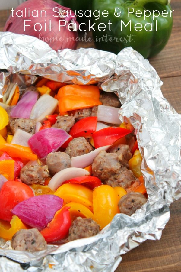 Italian Sausage and Pepper Foil Packet Meal and the Perfect Grill to Cook it On