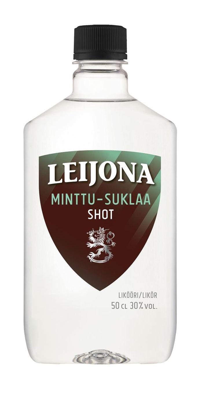 Leijona Minttu-Suklaa Shot #viina #alkoholi #nam .