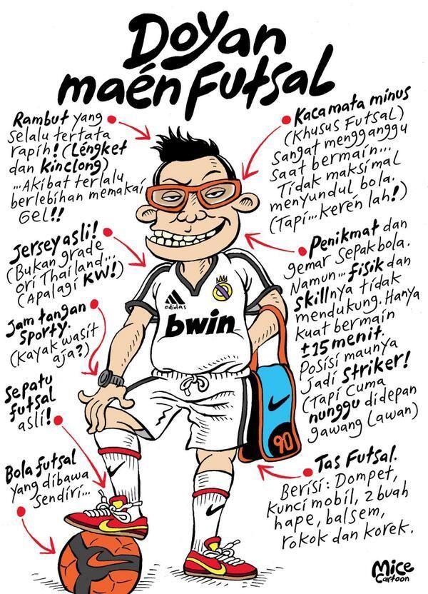 Doyan Maen Futsal #KomikJakarta @mice_cartoon