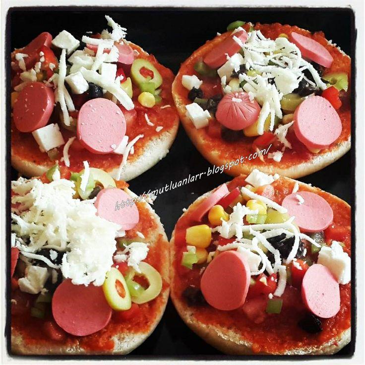 Tost ekmeğinde pizza, Kahvaltı için eşsiz lezzet, #pizza #tazeblogger #mutluanlarblog