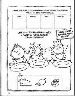 Fichas Infantiles: Fichas de los sentidos para niños