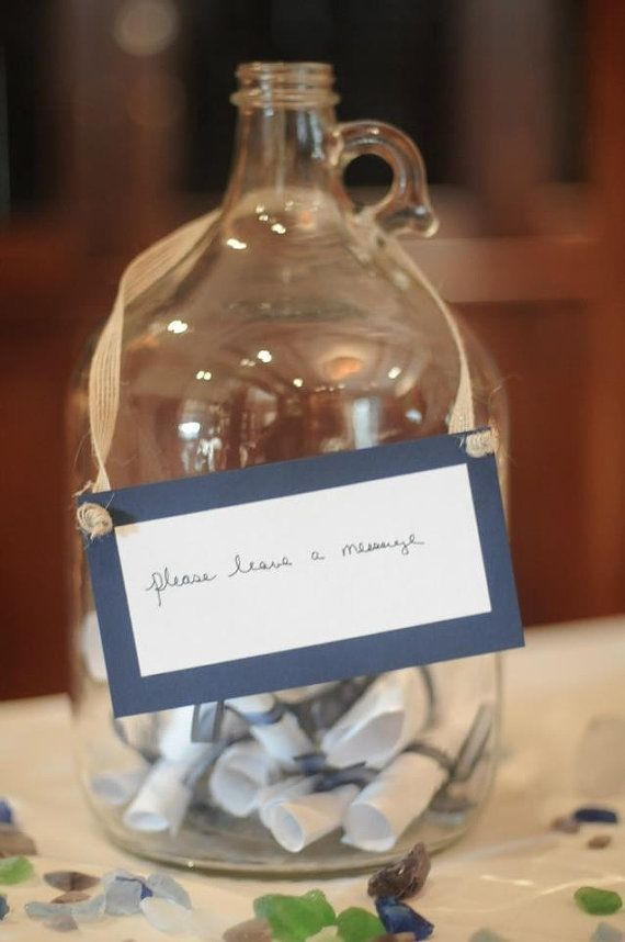 Message in a Bottle - Guest Message Center/time capsule ...