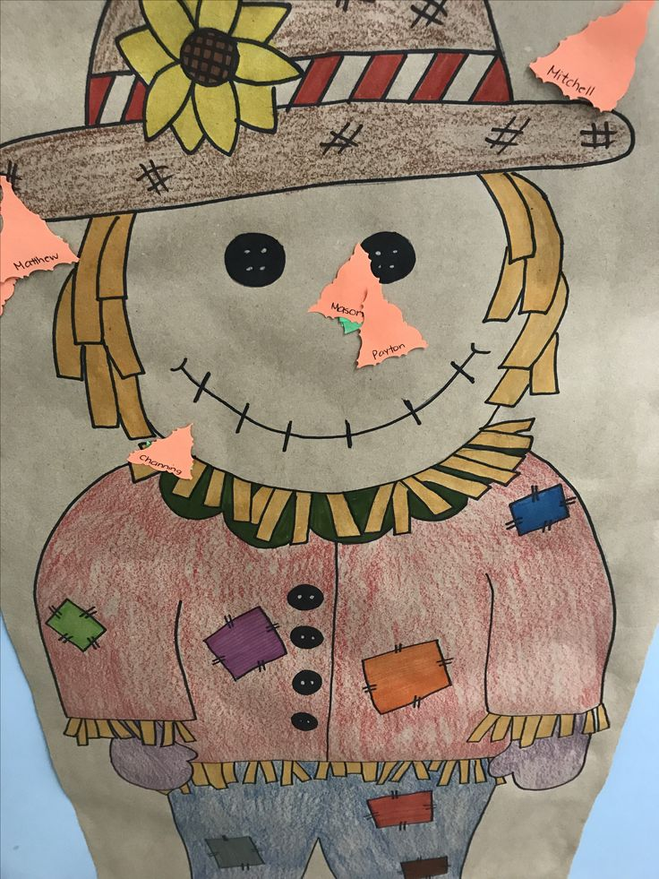 Pin the nose on the scarecrow!