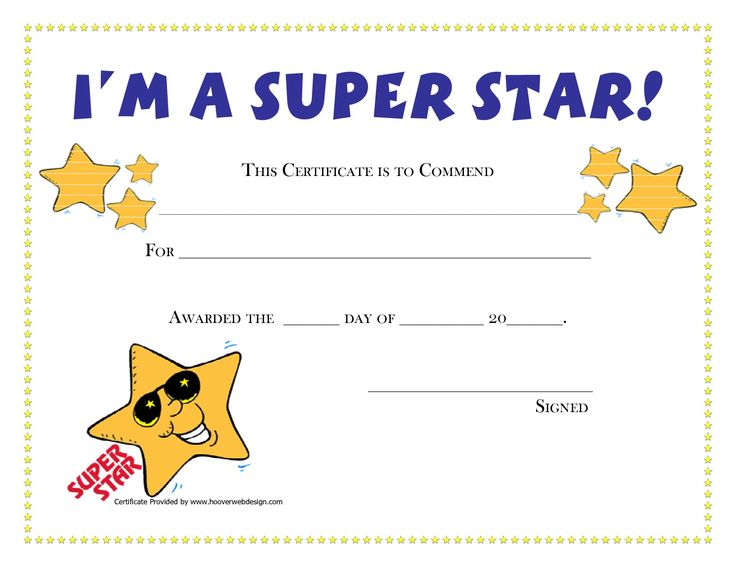 Candid image for free printable certificates for kids
