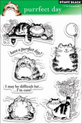 Penny Black Clear Stamp - Purrfect Day - Click to enlarge