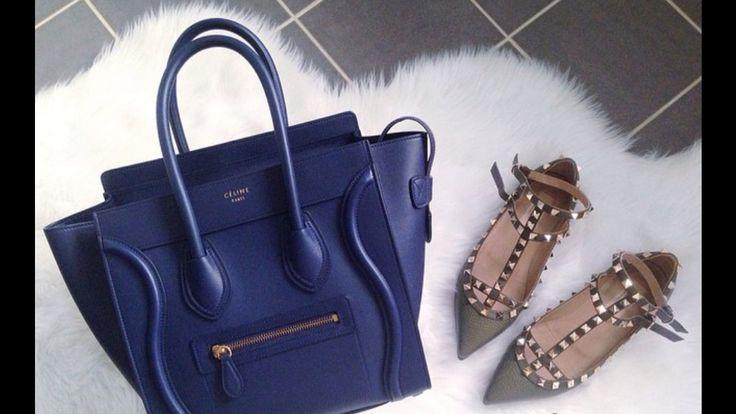 celline handbags - celine navy blue bag, celine nano luggage bag