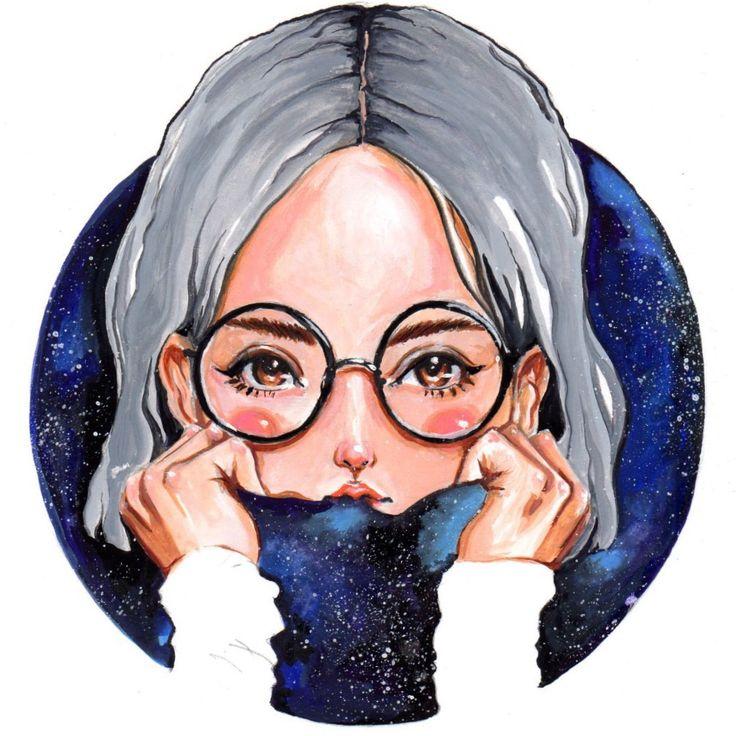 """Galaxy No.1"" 2016 gouache painting by Olivia Au @oliviaumeiwa"