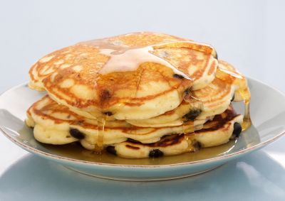 Anna Olson fluffy blueberry pancakes