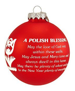 Polish Blessing Red Tulip Ornament