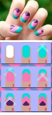 DIY Chevron Nail Art the HARD way. Try it the EASY Jamberry way! http://tesa.jamberrynails.net/category/graphic-punch https://www.facebook.com/tesajamberrynails