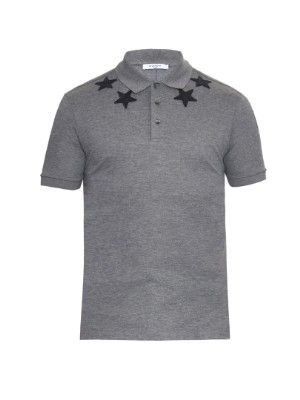 Cuban-fit star-embroidered polo shirt | Givenchy | MATCHESFASHION.COM