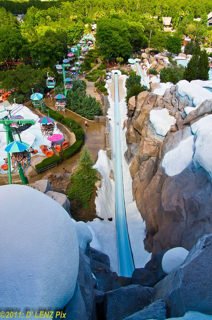 Blizzard Beach, Orlando, FL  Super cool waterpark. Loved the mat racers and gondolas! :)i want to go on this again cos kt was gr8