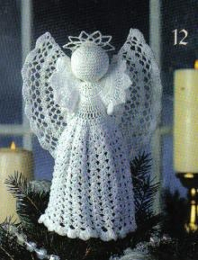 Crochet Christmas Treetop Angels- very pretty! Made some as gifts in different colours and now I have paying orders to fill ;)