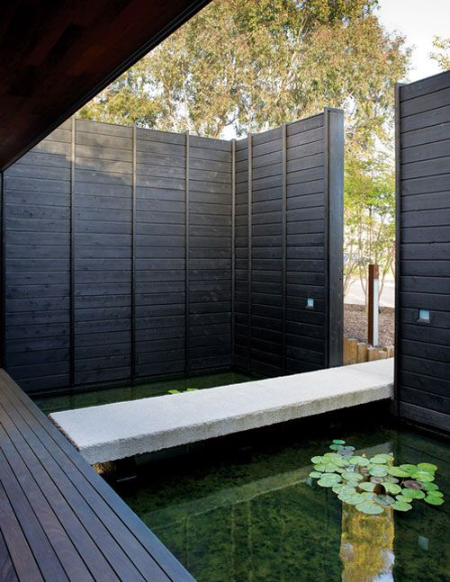Brilliant outdoor Koi Pond, would make a few adjustments, seating, railing, possibly glass floor for seating