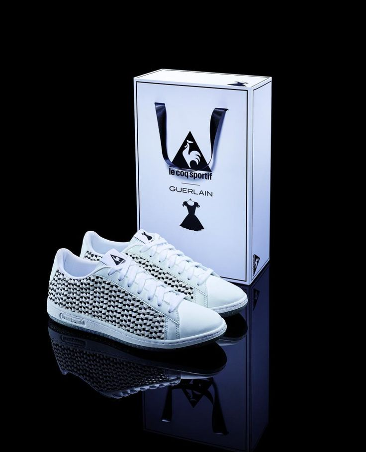 The new iteration of Guerlain's Le Petite Robe Noir perfume is accompanied by a sparkling, limited edition sneaker made with the resurgent Le Coq Sportif.