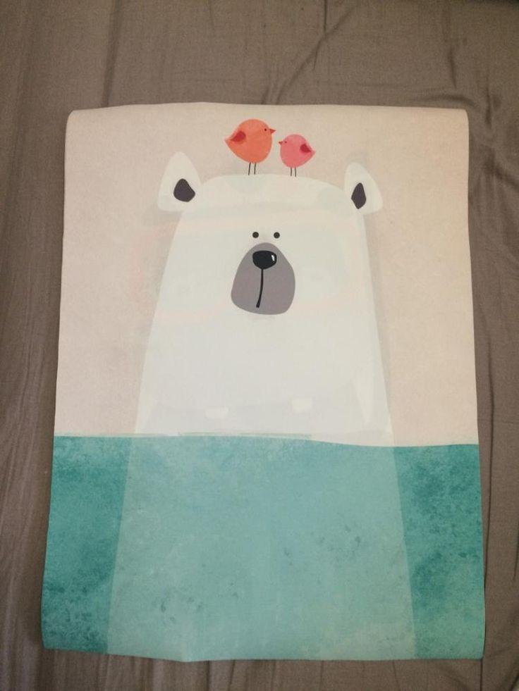 Nórdico moderno Kawaii Urso Hippo Animal Ave A4 Cópias Da Arte cartaz Dos Desenhos Animados Retratos Da Parede Da Lona Pintura Sem Moldura Quarto Dos Miúdos decoração Loja Online | aliexpress móvel