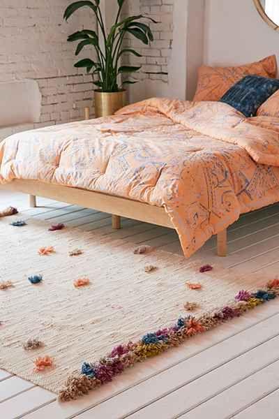 Dorm Room Rugs: Feliz Rainbow Tufted Rug - Urban Outfitters