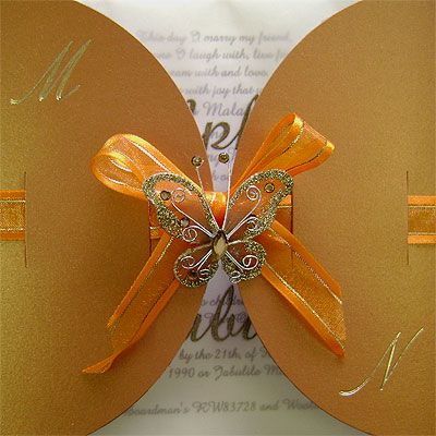 Ref Kgaogelo Copper ( we can do any colour)www.weddingcards.co.za