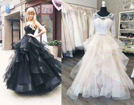 Black Ball Gown Gothic Steampunk Prom Dress Multiway Light Pink